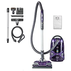 BAGGED CANISTER VACUUM: Multipurpose design w/swivel head cleans all areas and surfaces in your home, den, kitchen, car and garage POWERFUL CLEANING: 2-motor system excels in suction strength and includes 2 floor nozzles with exclusive Pop-N-Go floor...
