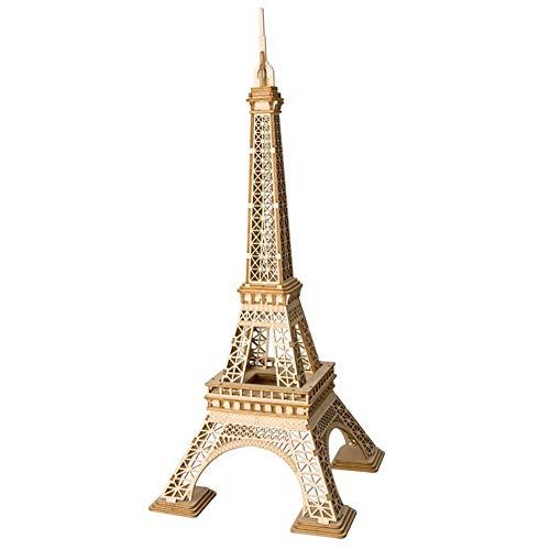 NINI Torre Eiffel Puzzle 3D Modelo de Bricolaje Rompecabezas Tridimensional Hijos Adultos Montado Juguetes de Madera Kits de artesania para ninos