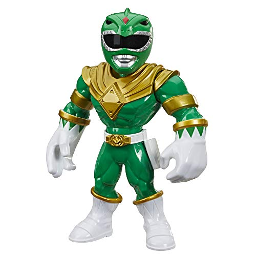 Power Rangers Playskool Heroes Mega Mighties Green Ranger 10-inch Figure, Mighty Morphin Collectible Toys, Kids Ages 3 and Up
