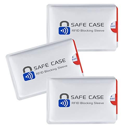 Diawell RFID NFC Kartenschutzhüllen Schutzhülle Blocker Datenschutz Abschirmung Hülle Sleeve EC Karte Kreditkarte Personalausweis Kreditkarte für Geldbeutel (3X)