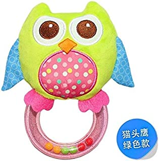 EOFK Plush Toy Zebra Ring Balls Rattle Beads Owl Bird Chick Hand Training Shakesmooth Stable Rattles Doll Child Gift Must-Have Childrens Favourites Superhero Birthday Unboxing Toys