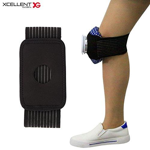 Xcellent Global Sangle pour poche à glace, support pour sac de glace ajustable et élastique (la poche à glace n'est pas incluse) HG217