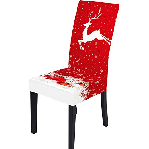 YueyangChristmas Dining Chair Protector Slipcover Stretch Removable Seat Back Cover