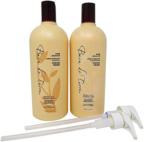 Bain De Terre Sweet Almond Oil Long Healthy Shampoo Conditioner 33 8 Ounce Duo with Pumps product image