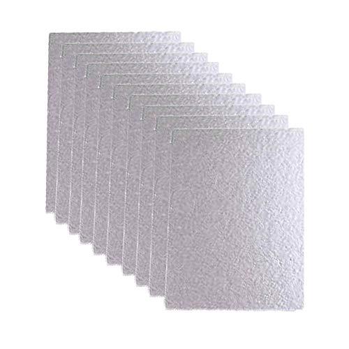 Glimmerplatte Blatt, 10 Stück Glimmerscheibe für Mikrowellen, Hochtemperaturbeständige Glimmerplatte, Mikrowelle Glimmer Platte Blatt Reparatur Teile Ersatz Zubehör, für Haushaltsgeräte