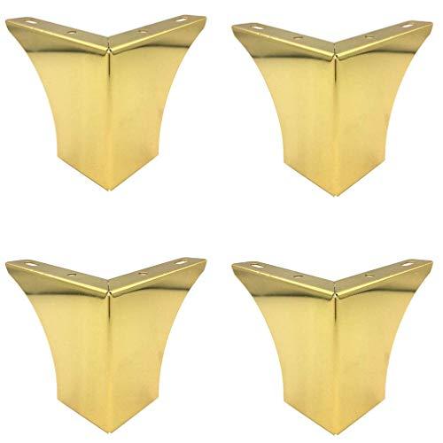 DX-set met 4 metalen voeten, meubelpoten, banken, voetsteunen, reservevoeten, 5/8/10 cm, voor het knutselen van kasten, banken, voetsteunen of voetsteunen (5 cm / 2 inch)
