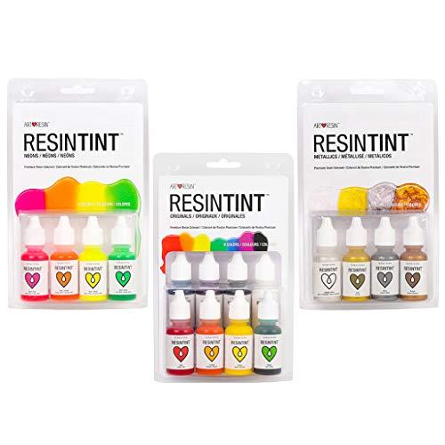 RESIN TINT Liquid Pigment, Complete Set Bundle, 24 Colors