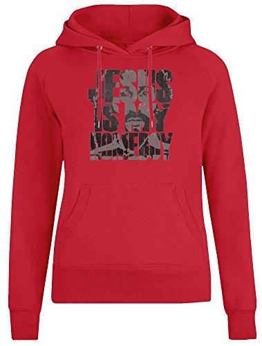 Jesus is My Homeboy Jacke mit Kapuzenpulli für Frauen - 100% Weiche Baumwolle - Benutzerdefinierte Bedruckte Damenbekleidung Medium