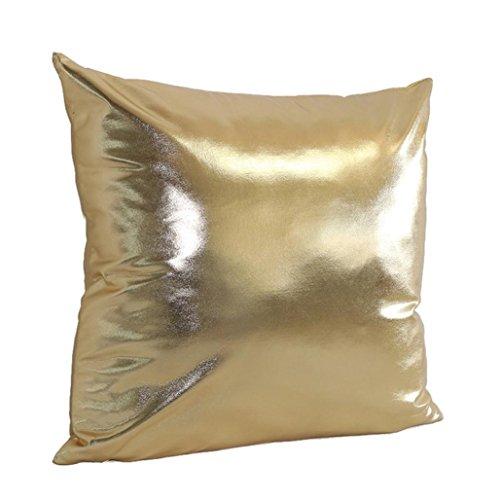 Vovotrade Housse de Coussin Tissu Doré Housse d'oreiller à Litière Sofa Bling Fête Home Decor (Or)