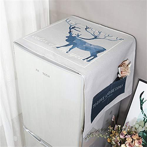 Zhangmeiren Lavadora Cubierta De Polvo Refrigerador Refrigerador Cubierta De Polvo De Algodón Cubierta De Tela Cubierta Impermeable Toallas De Tela De Polvo Microondas (Color : E, Size : S)