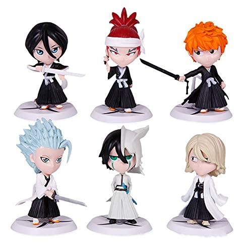 6 Unids / Set Anime Bleach Kurosaki Ichigo Inoue Orihime Hitsugaya Toushirou PVC Figura De Acción Juguetes De Modelos Coleccionables Regalo para Niños 7Cm