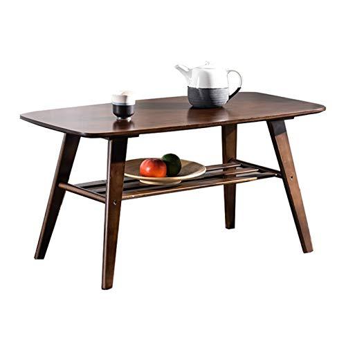N/Z Home Equipment Beistelltisch Natural Bamboo Coffee Center Tisch Double Layer Couchtisch Beistelltisch Wohnzimmer Beistelltisch Unterregal Aufbewahrung Dekorative Möbel Couchtisch (Farbe: Natural)