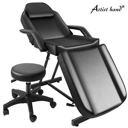 Artist Hand Massage Table Adjustable Massage Bed W/Free Barber Stool Spa Bed Salon Massage Equipment