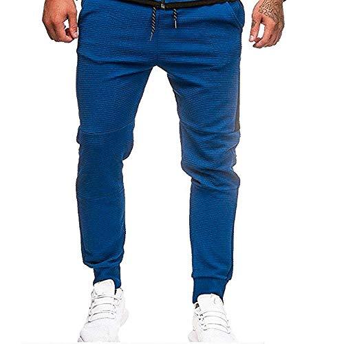 YEBIRAL Herren Sweatjacke Zipper Hoodie Kapuzenjacke Jogging Anzug Trainingsanzug Sportanzug Trainingshose(M,H-Blau)