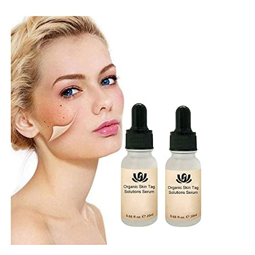 WYBF 2pcs Organic Skin Spot Purifying Serum,Dark Spot Remover, Skin Tag Remover & Mole Remover Lotion,All Natural Tags Free Mole & Tag Removal 20ml