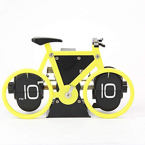 YYWDP Reloj, Cambio automático de página Bicicleta Creativa Reloj Reloj silencioso de...
