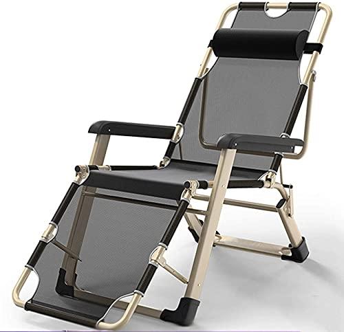 Artículos para el hogar Silla de Gravedad Cero Grande Patio Plegable al Aire Libre Sillones, sillón de Acero portátil Ajustable Camping reclinable
