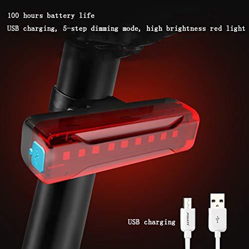 SYJH Fahrradlampe Fahrrad Led-Leuchten montiert auf Sattelstütze, Constant oder Blinzeln, 100 Stunden Laufzeit, Fahrradrücklicht mit Silikonband, einfach zu bedienen
