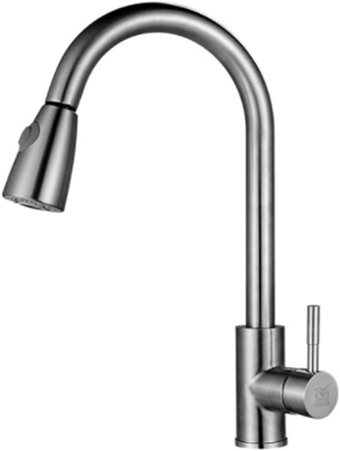 Cold and hot Water Kitchen Faucet Pull Faucet Faucet Stainless Steel Pool wash Basin Draw Water Faucet