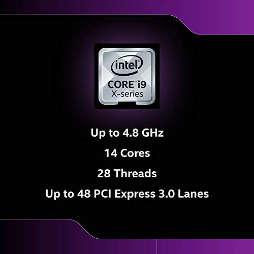 Intel Core i9-10940X Desktop Processor 14 Cores up to 4.8GHz Unlocked LGA2066 X299 Series 165W, BX8069510940X