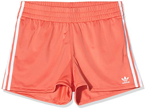 adidas Tres Bandas Pantalones Cortos, Mujer, Rojo (Trace Scarlet s18/White), 44