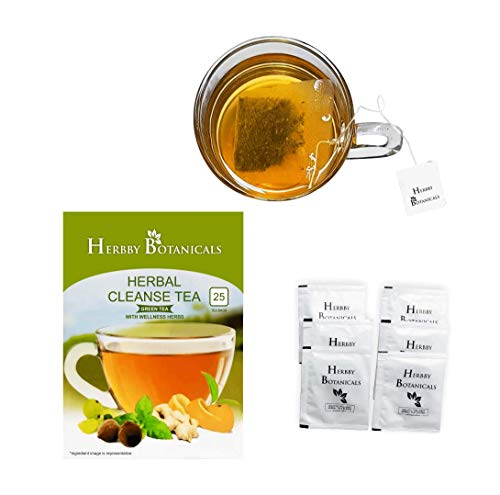 Skinny Slimming Detox Diet Tea for 28/14 Herbal Cleanse| Mild Laxative with Senna for Weight Loss, Reduce Bloating - 25 Herbal Tea Bags | Made in India