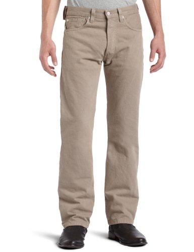 Levi's 501 Original-Fit Jean Jeans, Fungo, 30W / 32L Uomo
