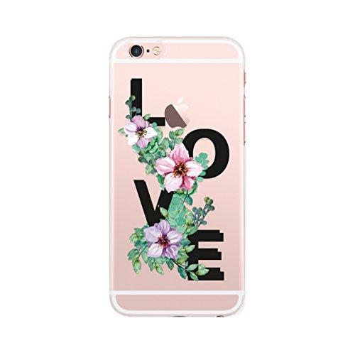 BigBen Connected Schutzhülle für iPhone 6 / 6S, Motiv Love, transparent