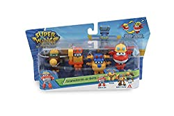 """This Super Wings toy figure set (from Series 3) features 4 fan-favourite characters in the 2"""" Transform-A-Bot scale 2 inch scale transforming figures - Transform from vehicle to bot in 3 easy steps Transform-a-Bot toys are made for preschool Super Wi..."""