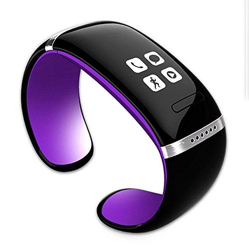 Generic L12S inteligente reloj Bluetooth pulsera mate podómetro con pasos seguimiento reproducción de música mano libre diseño de respuesta call para iOS Iphon Android Smartphones
