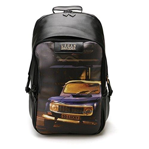 hatson Fashion Schule Rucksack Schultasche Urban Swagger Rucksack, 003BK