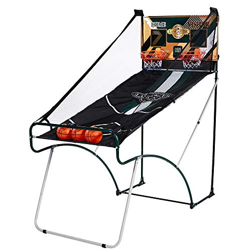 Lancaster Sports EZ-Fold 2 Player Indoor Arcade Dual Basketball Hoop Shot Game