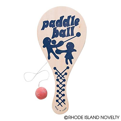 Rhode Island Novelty 9 Inch Paddle Ball, One Dozen