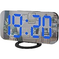 Dual Digital Alarm Clock with FM Radio & USB Charging Port