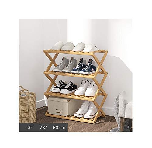 NAXIAOTIAO Kleines Schuhregal für entryway verengen, kostenlose Installation Bambusschuhschrank, mehrschichtiger einfachen Haushalt wirtschaftliches Regal, Klappschuhschrank, Fliegenschutz,C