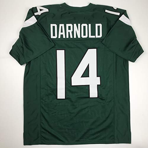 Unsigned Sam Darnold New York 2019 Green Custom Stitched Football Jersey Size XL New No Brands/Logos