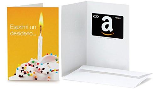 Buono Regalo Amazon.it - €30 (Biglietto d'auguri Esprimi un desiderio)