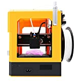 Tresbro Creality Cr-100 Mini 3D Printer with Fully Assembled and Intelligent Leveling, Best for Kids Children Beginner Students STEM Educational Toys, Red and Yellow