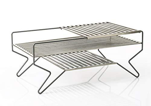 Amadeus - Table Basse en métal Grille 110x60 cm