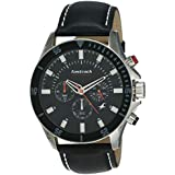 Fastrack Men's 3072SL02 Casual - Chronograph - Black Leather Strap Watch