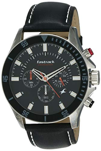 Fastrack His and Her Analog Black Dial Men's Watch -NL3072SL02 / NL3072SL02
