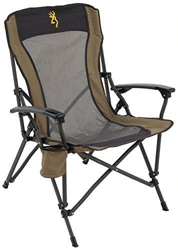 Browning Camping Fireside Chair, Gold Buckmark, Gold Logo, Model Number: 8517114