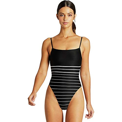 Vitamin A Jenna Bodysuit Midnight Stripe 8/M
