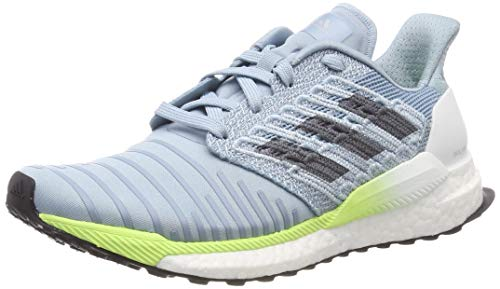 adidas Solar Boost W, Zapatillas de Running Mujer, Gris (Ash Grey S18/Onix/Hi/Res Yellow Ash Grey S18/Onix/Hi/Res Yellow), 42 EU