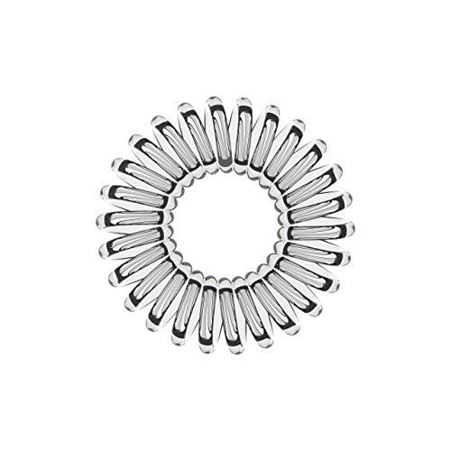 10er Set Spiral-Haargummi transparent groß (3,5 cm, transparent/durchsichtig/crystal-clear, 1x 10 Stück) / Spirale Haargummi