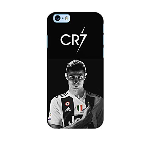 COVER CASE FOTO CRISTIANO RONALDO CR7 JUVE in TPU NERA (Iphone 6 6S Morbida)