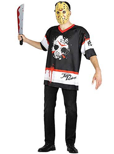 Funidelia | Disfraz de Jason Viernes 13 Hockey Oficial para Hombre Talla XXL Friday The 13th, Pelculas de Miedo, Terror