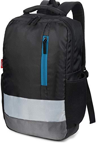 Wooum 15.6 inch Laptop Bag Backpack Fashion Backpack for Men Casual Student School Bag Computer Bag College Bag Office Bag Business Bag Unisex Travel Backpack (Black-BlueZip)