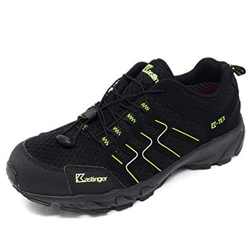 Kastinger Trailrunner,Damen,Herren,Trailrunner,Outdoor-Trekkingschuh, K-Tex Membran,wasserdicht,atmungsaktiv,Schnellschnürung,Black/Lime,42