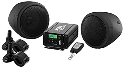 BOSS Audio Systems MCBK520B Motorcycle Speaker and Amplifier Sound System - Bluetooth, Weatherproof, 3 inch Speakers, by BOSS AUDIO